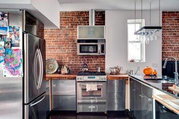 Лофт стиль в интерьере кухни — для смелых и творческих индивидуальностей