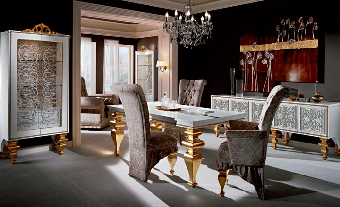 Золотые элементы в стиле кухни