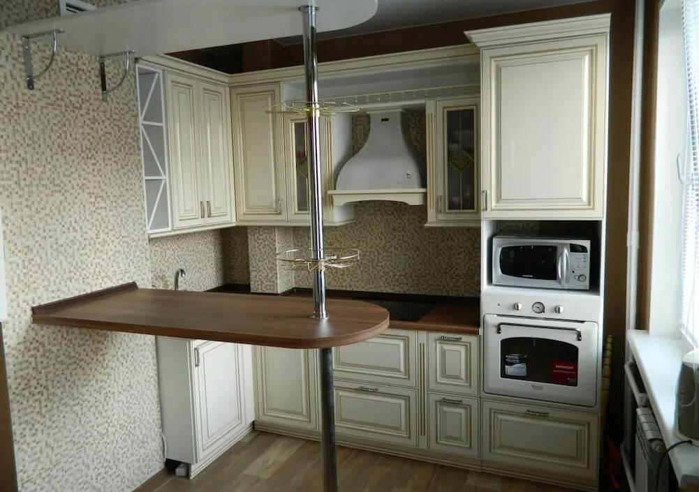 Размеры стандартной барной стойки для кухни